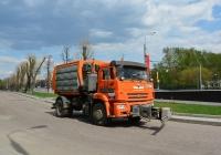 Комбинированная дорожная машина МКДУ-10 на шасси КамАЗ-53605. Москва, Варшавское шоссе (дублёр)