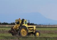 Трактор Т-40АП #1767 КА 82 с косилкой на лётном поле. Республика Крым, аэропорт Симферополь