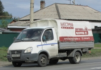 """Автомобиль ГАЗ-3302 """"Газель"""" #С 648 ММ 154. Новосибирск, улица Одоевского"""