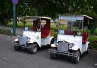 Прогулочные электромобили . Венгрия, Будапешт, парк на острове Маргит