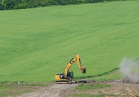 Экскаватор Caterpillar 320D. Белгородская область, Алексеевский район, окрестности с. Сидоркино