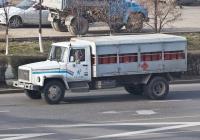 Автомобиль-баллоновоз на удлиненном шасси ГАЗ-3309 #971 AF 02. Алматы, улица Саина