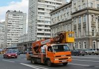 Автоподъёмник Aichi SK-200 на шасси Isuzu ELF #Е 107 МВ 750 . Москва, Садовая-Триумфальная улица