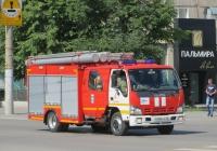 Пожарная автоцистерна АЦ-2,0-40/2(NQR75P) на шасси Isuzu NQR 75 R #Н 983 КА 45. Курган, улица Куйбышева