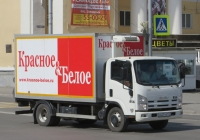 Фургон на шасси Isuzu NP #У 627 ТВ 174 . Курган, улица Гоголя