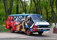 """Микроавтобус РАФ-2203 """"Латвия"""", #АХ 3437 ВС . Украина, Киев, улица Грушевского"""