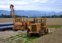 Трубоукладчик на базе трактора Stalowa Wola . Словения, Домжале
