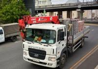 Бортовой грузовик Hyundai HD170 #Е 521 НК 777 с КМУ Unic V550. Москва, Крымский проезд