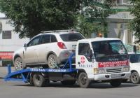 Эвакуатор на шасси Isuzu ELF #М 191 КХ 45. Курган, улица Куйбышева