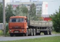 Седельный тягач КамАЗ-6460 #К 022 ЕК 45  с двухосным полуприцепом. Курган, проспект маршала Голикова