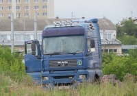 Седельный тягач MAN TG-410A #О 986 ТН 124. Курган, Молодёжный парк