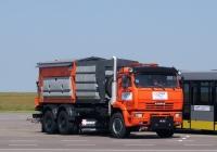 Комбинированная дорожная машина МКДУ-3 на шасси КамАЗ-6520. Калуга, международный аэропорт Калуга