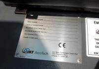 Заводская табличка тягача аэродромного JBT B250. Калуга, международный аэропорт Калуга
