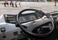 Кабина перронного автобуса Cobus 3000. Калуга, международный аэропорт Калуга