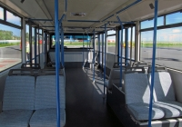 Салон перронного автобуса Cobus 3000. Калуга, международный аэропорт Калуга