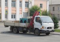 Грузовик с КМУ Чайка-Сервис 3784JB на шасси Hyundai HD78 #М 008 ТН 18. Курган, улица Савельева