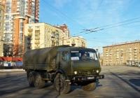 Армейский грузовик КамАЗ-43114 #4268 АМ 77. Москва, площадь Краснопресненская Застава