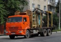 Сортиментовоз с КМУ на шасси КамАЗ-65115 . Калуга, Октябрьская улица