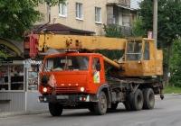 """Автокран КС-4572А """"Галичанин"""" на шасси КамАЗ-53213. Калуга, Заводская улица"""