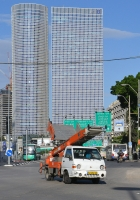 Погрузчик на базе автомобиля Hyundai Porter #62-262-20. Израиль, Тель Авив