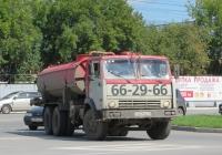 Машина вакуумная типа КО-505А на шасси КамАЗ-53213 #С 637 МА 45. Курган, Станционная улица