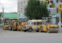 Техника МУП «СДП» на ремонте улицы Куйбышева. Курган, улица Куйбышева