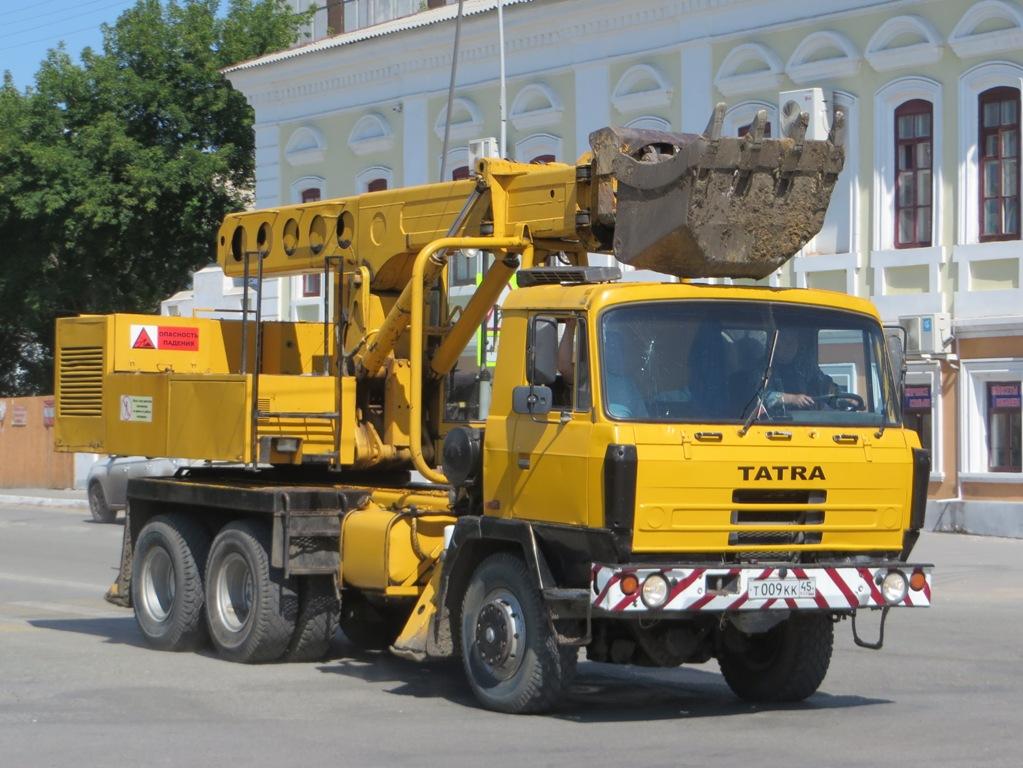 Экскаватор-планировщик UDS-114 на шасси Tatra T815 #Т 009 КК 45. Курган, улица Савельева