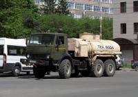 Топливная цистерна  АЦ-7,0-4310 на шасси КамАЗ-43101 #О 361 АВ 400, приспособленная для перевозки техводы. Калуга, улица Салтыкова-Щедрина