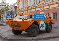 Рекламобиль на базе БРДМ-2. Томск, проспект Ленина