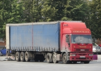 Седельный тягач IVECO MP400E38T\P #В 148 НА 116 с полуприцепом. Курган, улица Гоголя