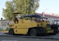 Пневмоколёсный каток Sakai TS200. Иваново, улица Красных Зорь