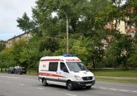 Автомобиль cкорой медицинской помощи на базе Mercedes-Benz #О 864 КЕ 197. Москва, улица Космонавта Волкова