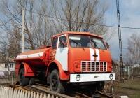 Топливозаправщик ТЗА-7,5-5334 на шасси МАЗ-5334, переоборудованный в пожарную автоцистерну. Курская область., п. Горшечное