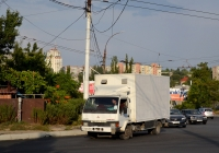 Фургон на шасси автомобиля Mitsubishi Fuso Canter #Т 974 СС. Приднестровье, Тирасполь, Одесская улица → улица Чапаева