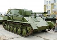 Самоходная артиллерийская установка СУ-76М. Московская область, Красногорский район, посёлок Архангельское