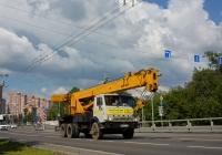 Автокран МКА-25 на шасси КамАЗ-53213 #Р 649 СХ 31. Москва, Большая Академическая улица