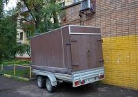 Бортовой автомобильный прицеп #ВУ 8077 50. Москва, бульвар Матроса Железняка