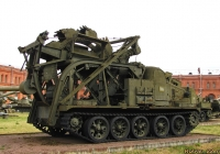 Быстроходная траншейная машина БТМ-3 на базе тягача АТ-Т. Санкт-Петербург, Музей артиллерии, инженерных войск и войск связи