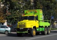 Эвакуатор на базе лесовозного тягача КрАЗ-64372-040 #М 750 ММ 40. Калуга, улица Маршала Жукова