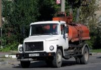 Топливная цистерна на шасси ГАЗ-3307 #Е 805 ОР 40. Калуга, Октябрьская улица