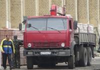 Автомобиль КамАЗ-53212 с КМУ #К 715 КМ 45.  Курган, улица Куйбышева