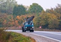 Автокран КС-3562Б на шасси МАЗ-5334. Тернопольская область, трасса Тернополь - Ровно