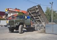 Самосвал с КМУ на шасси ЗиЛ-131 #829OYA02. Алматы, улица Саина