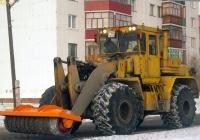 Погрузчик К-702МBА-УДМ2 #1100 ТН 72 с противогололедным валом. Тюмень, Пролетарская улица