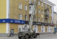 Автоподъёмник ВС-22-МС на шасси ЗиЛ-431412 #Е 018 НС 174 . Курган, улица Карла Маркса
