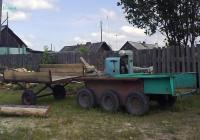 Самоходная тележка ТС-350 с прицепом. Свердловская область, Луговской