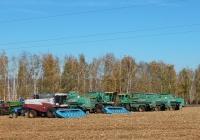Зерноуборочные комбайны Acros 530 и Дон-1500Б. Белгородская область., Красногвардейский район