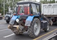 Трактор Беларус-82.1 с навесной дорожной фрезой МТС-110 #A 729 ALD. Алматы, улица Саина