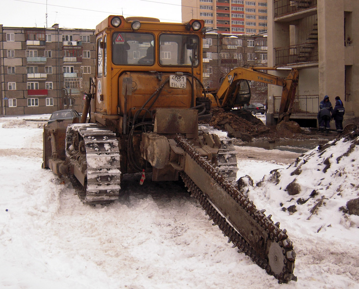 Баровая установка на базе трактора Т-170 #4031 ТН 72. Тюмень, Садовая улица