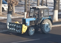 Шнекороторный снегоочиститель ФРС-200М на базе трактора Беларус 82.1 #A 022 AKD. Алматы, проспект Рыскулова